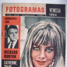 Cine: CATHERINE SPAAK. RICHARD BURTON. REVISTA FOTOGRAMAS 1964.. Lote 186290052