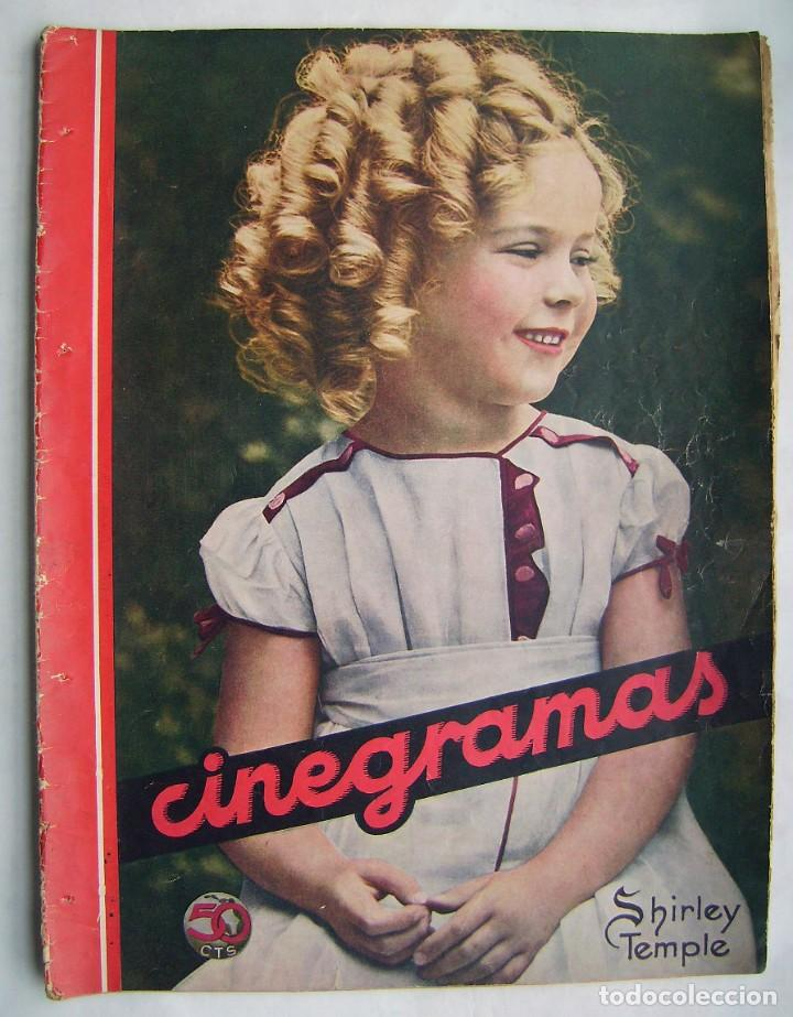 SHIRLEY TEMPLE. GRETA GARBO. CAROLE LOMBARD. REVISTA CINEGRAMAS 1934. (Cine - Revistas - Cinegramas)
