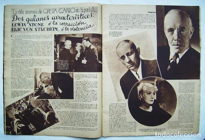 Cine: SHIRLEY TEMPLE. GRETA GARBO. CAROLE LOMBARD. REVISTA CINEGRAMAS 1934. - Foto 3 - 186292243