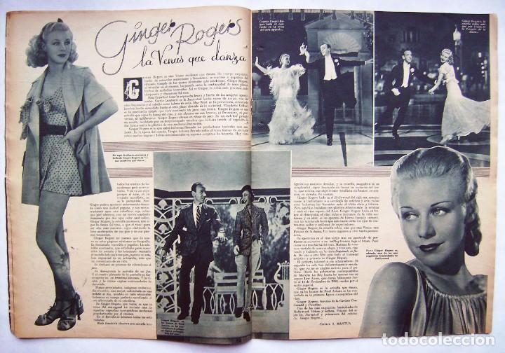 Cine: SHIRLEY TEMPLE. MAURICE CHEVALIER. GINGER ROGERS . REVISTA CINEGRAMAS 1936. - Foto 4 - 186332316