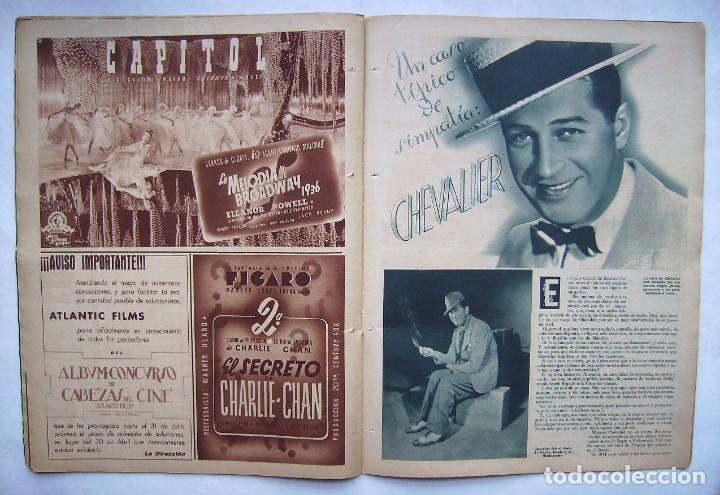 Cine: SHIRLEY TEMPLE. MAURICE CHEVALIER. GINGER ROGERS . REVISTA CINEGRAMAS 1936. - Foto 5 - 186332316