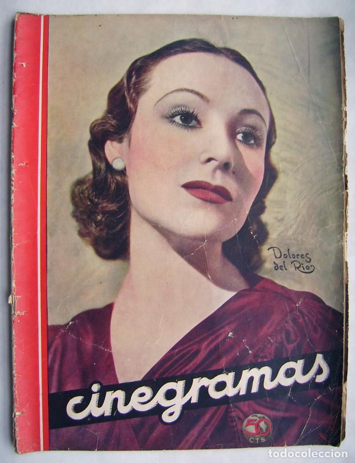 DOLORES DEL RÍO. CATALINA BARCENA. FREDRIC MARCH . REVISTA CINEGRAMAS 1935. (Cine - Revistas - Cinegramas)