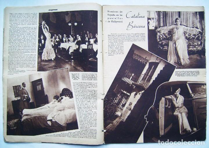 Cine: DOLORES DEL RÍO. CATALINA BARCENA. FREDRIC MARCH . REVISTA CINEGRAMAS 1935. - Foto 2 - 186333631