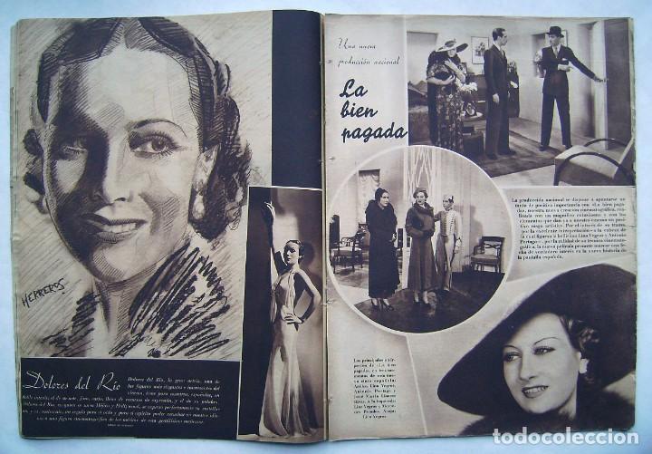 Cine: DOLORES DEL RÍO. CATALINA BARCENA. FREDRIC MARCH . REVISTA CINEGRAMAS 1935. - Foto 4 - 186333631
