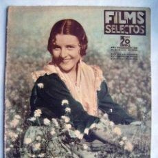 Cine: IMPERIO ARGENTINA. HAROLD LLOYD. REVISTA FILMS SELECTOS. 1936.. Lote 186374961