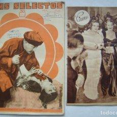 Cine: 2 REVISTAS INCOMPLETAS. REVISTA FILMS SELECTOS. 1932.. Lote 186375788