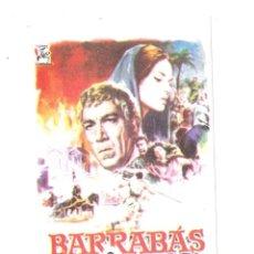 Cine: BARRABAS `ROGRAMA DE MANO MODERNO-ANTHONY QUIN. Lote 186453117