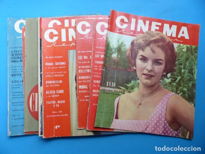CINEMA, 10 ANTIGUAS REVISTAS, AÑOS 1940-1950-1960 - VER FOTOS ADICIONALES (Cine - Revistas - Cinema)