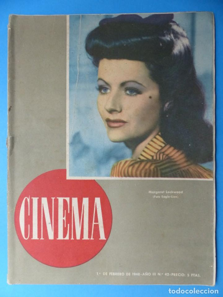 Cine: CINEMA, 10 ANTIGUAS REVISTAS, AÑOS 1940-1950-1960 - VER FOTOS ADICIONALES - Foto 7 - 187093088