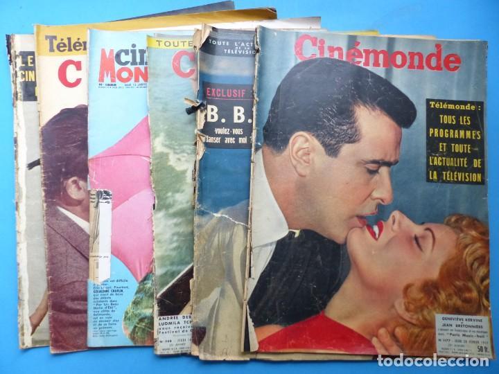 CINEMONDE, 6 ANTIGUAS REVISTAS, AÑOS 1950 - VER FOTOS ADICIONALES (Cine - Revistas - Otros)