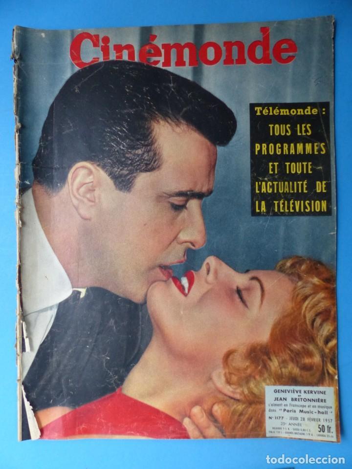 Cine: CINEMONDE, 6 ANTIGUAS REVISTAS, AÑOS 1950 - VER FOTOS ADICIONALES - Foto 2 - 187093297