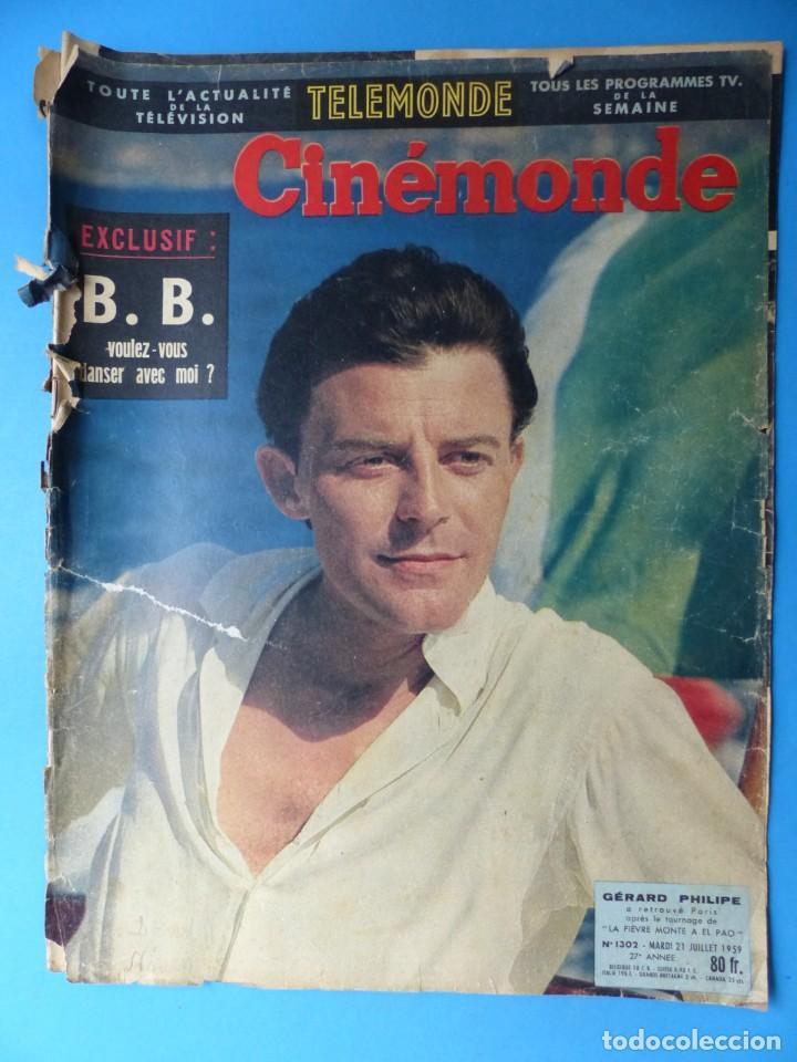 Cine: CINEMONDE, 6 ANTIGUAS REVISTAS, AÑOS 1950 - VER FOTOS ADICIONALES - Foto 3 - 187093297