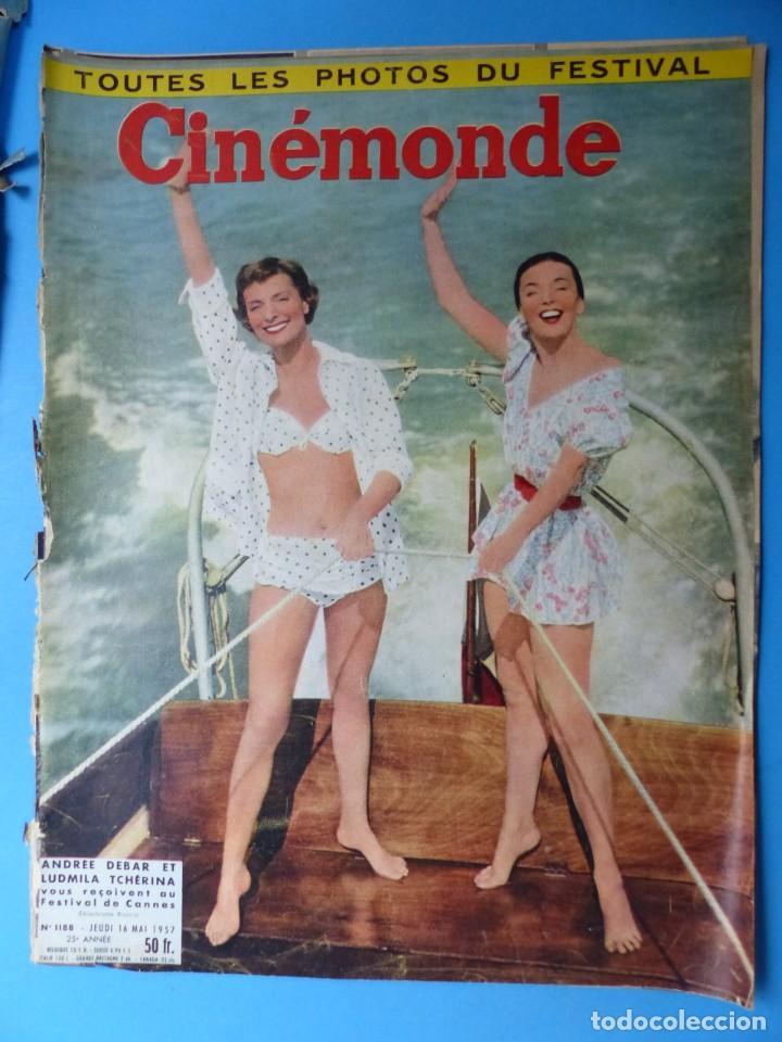 Cine: CINEMONDE, 6 ANTIGUAS REVISTAS, AÑOS 1950 - VER FOTOS ADICIONALES - Foto 4 - 187093297