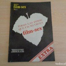 Cinema: REVISTA FILM SEX EXTRA. TODAS LAS FOTOS QUE UD NO VIÓ. 1977. BUEN ESTADO. Lote 187112848