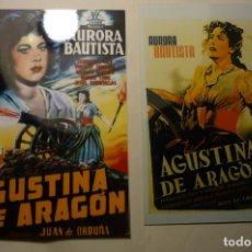 Cine: LOTE REPRODUCCIONES FOTO AGUSTINA DE ARAGON-AURORA BAUTISTA. Lote 187120900