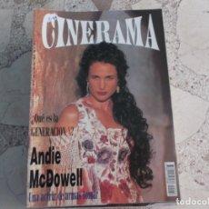 Cine: REVISTA CINERAMA Nº 26, ANDIE MCDOWELL. Lote 187149560