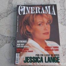 Cine: REVISTA CINERAMA Nº 36, JESSICA LANGE, BRIDGET FONDA Y NICOLAS CAGE. Lote 187150033