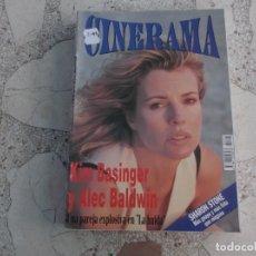 Cinema: REVISTA CINERAMA Nº 25, KIM BASINGER Y ALEC BALDWIN, SHARON STONE. Lote 187150246