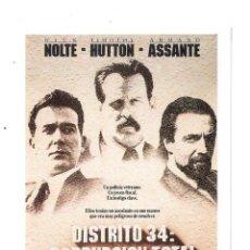 Cine: DISTRITO 34 CORRUPCION TOTAL-NICK NOLTE -PROGRAMA DE MANO MODERNO-. Lote 187178955