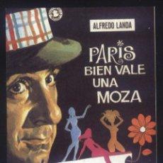 Cinema: P-8527- PARIS BIEN VALE UNA MOZA (RECORTE PRENSA 9 X 12) ALFREDO LANDA - PAZ ISERN. Lote 187188681