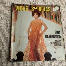 Cine: VIDAS SECRETAS , GINA LOLLOBRIGIDA, AMARGO CREPUSCULO DE UNA DIOSA - MONOGRAFICO. Lote 19890384
