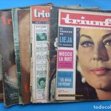 Cine: TRIUNFO, 13 ANTIGUAS REVISTAS, AÑOS 1940-1950-1960 - VER FOTOS ADICIONALES. Lote 187612441