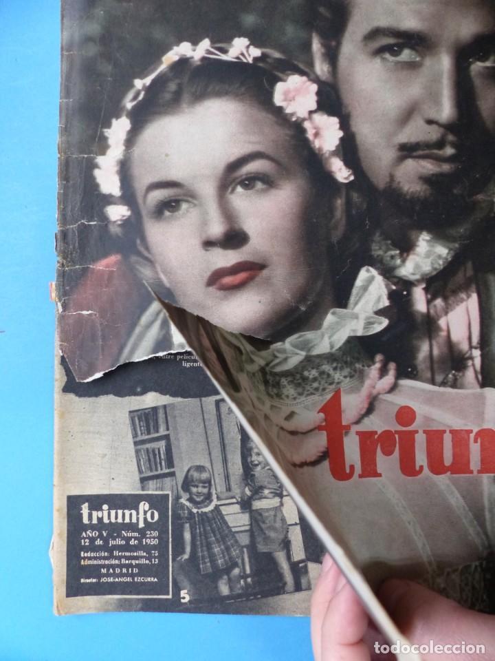 Cine: TRIUNFO, 13 ANTIGUAS REVISTAS, AÑOS 1940-1950-1960 - VER FOTOS ADICIONALES - Foto 4 - 187612441