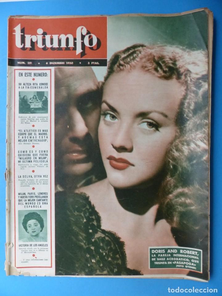 Cine: TRIUNFO, 13 ANTIGUAS REVISTAS, AÑOS 1940-1950-1960 - VER FOTOS ADICIONALES - Foto 5 - 187612441