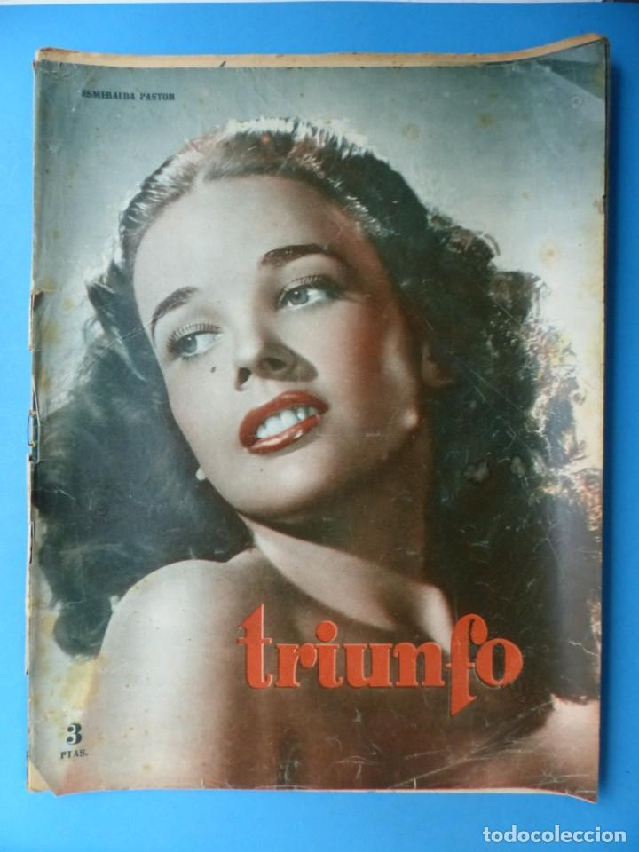 Cine: TRIUNFO, 13 ANTIGUAS REVISTAS, AÑOS 1940-1950-1960 - VER FOTOS ADICIONALES - Foto 6 - 187612441