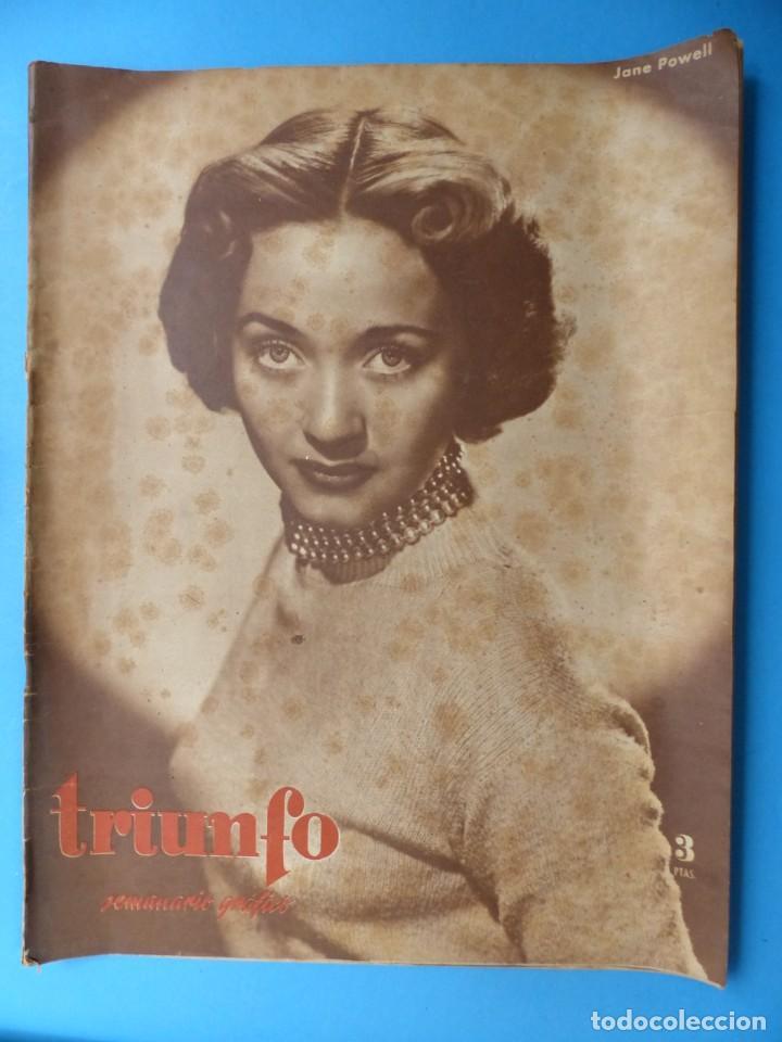 Cine: TRIUNFO, 13 ANTIGUAS REVISTAS, AÑOS 1940-1950-1960 - VER FOTOS ADICIONALES - Foto 8 - 187612441
