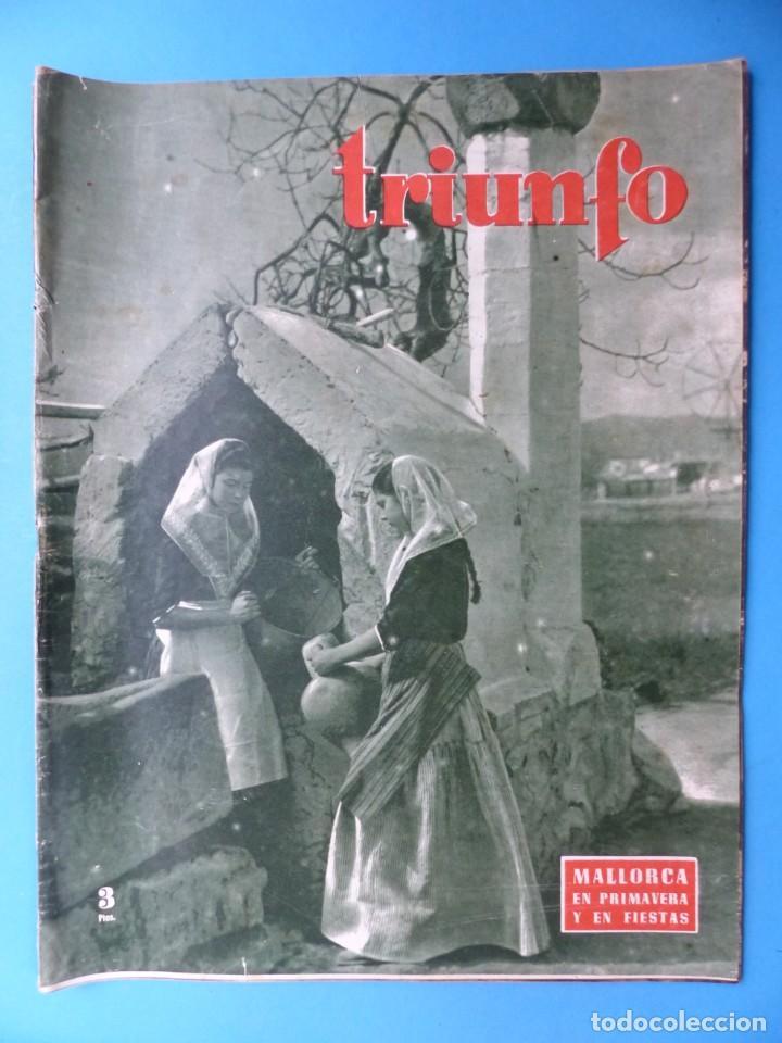 Cine: TRIUNFO, 13 ANTIGUAS REVISTAS, AÑOS 1940-1950-1960 - VER FOTOS ADICIONALES - Foto 9 - 187612441