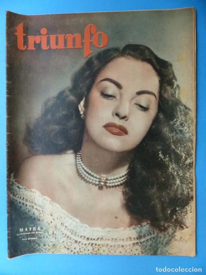 Cine: TRIUNFO, 13 ANTIGUAS REVISTAS, AÑOS 1940-1950-1960 - VER FOTOS ADICIONALES - Foto 10 - 187612441