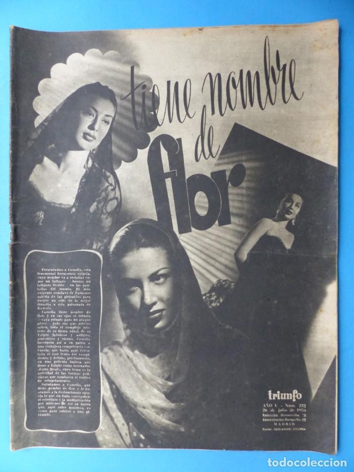 Cine: TRIUNFO, 13 ANTIGUAS REVISTAS, AÑOS 1940-1950-1960 - VER FOTOS ADICIONALES - Foto 11 - 187612441