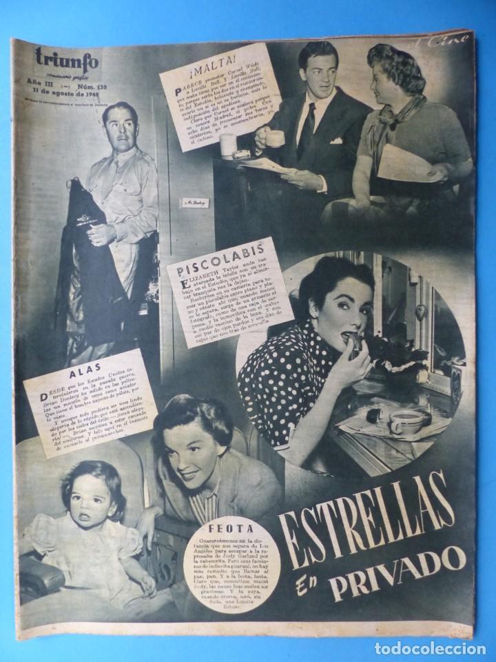 Cine: TRIUNFO, 13 ANTIGUAS REVISTAS, AÑOS 1940-1950-1960 - VER FOTOS ADICIONALES - Foto 12 - 187612441