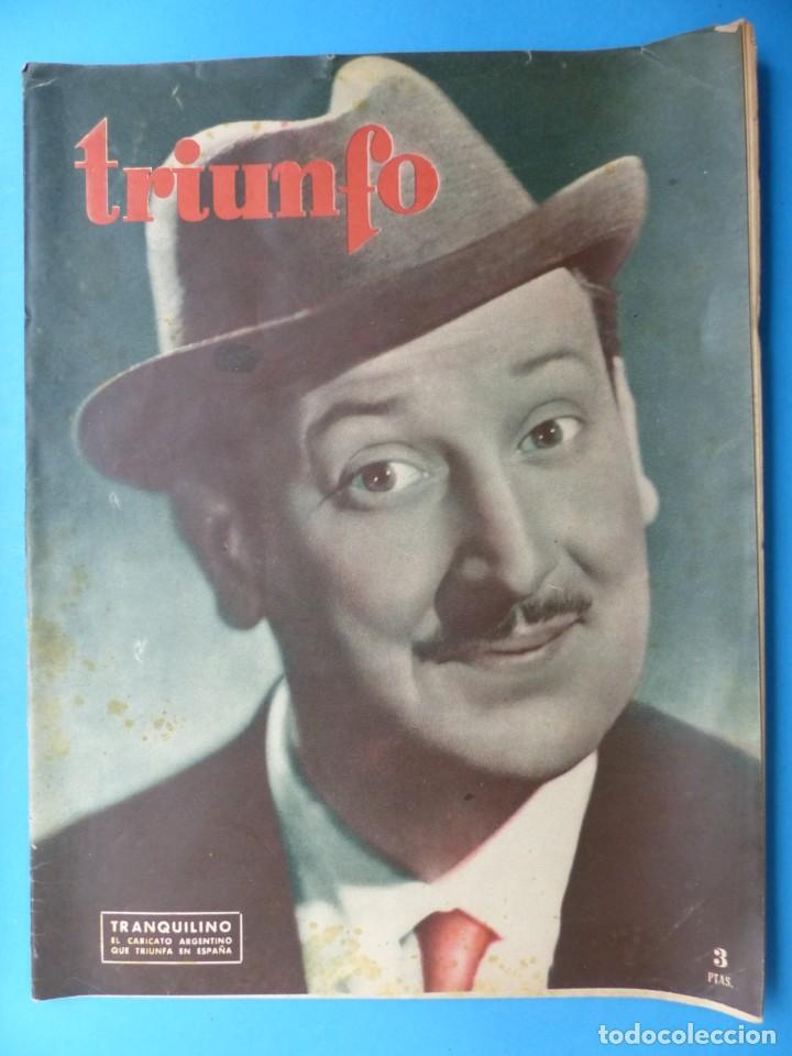 Cine: TRIUNFO, 13 ANTIGUAS REVISTAS, AÑOS 1940-1950-1960 - VER FOTOS ADICIONALES - Foto 13 - 187612441