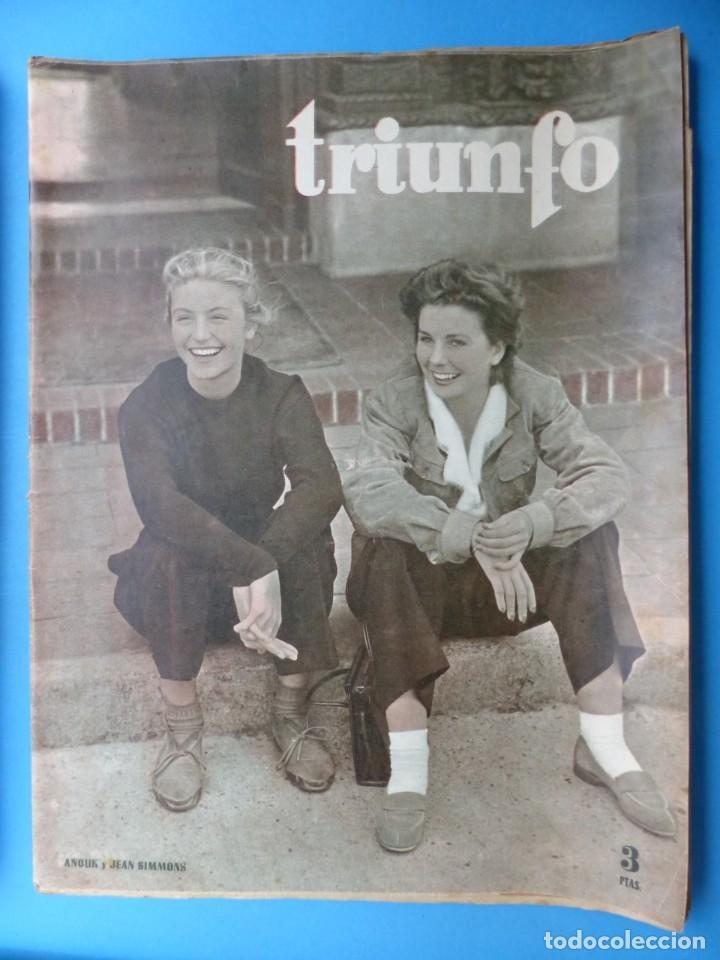 Cine: TRIUNFO, 13 ANTIGUAS REVISTAS, AÑOS 1940-1950-1960 - VER FOTOS ADICIONALES - Foto 14 - 187612441