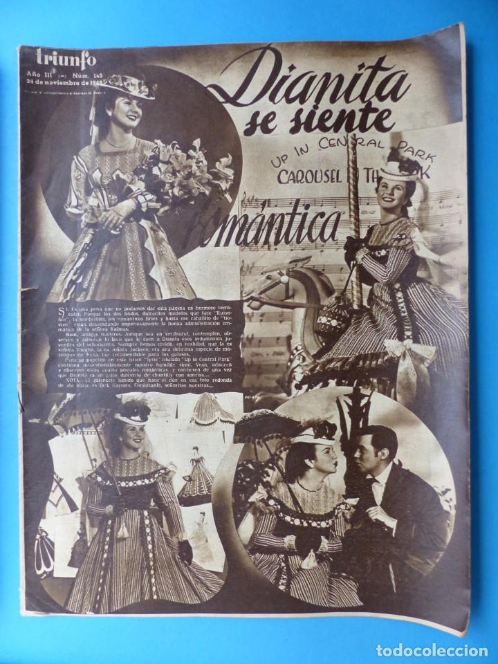 Cine: TRIUNFO, 13 ANTIGUAS REVISTAS, AÑOS 1940-1950-1960 - VER FOTOS ADICIONALES - Foto 15 - 187612441