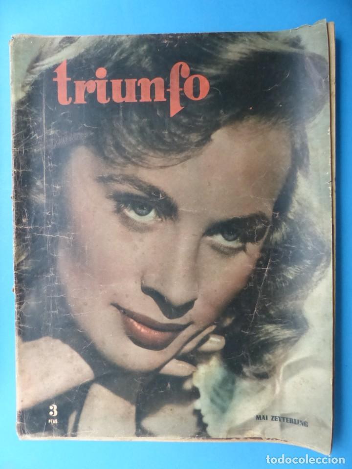 Cine: TRIUNFO, 13 ANTIGUAS REVISTAS, AÑOS 1940-1950-1960 - VER FOTOS ADICIONALES - Foto 16 - 187612441