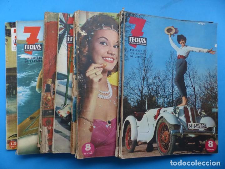 7 FECHAS, 9 ANTIGUAS REVISTAS, AÑOS 1960-1970 - VER FOTOS ADICIONALES (Cine - Revistas - Otros)