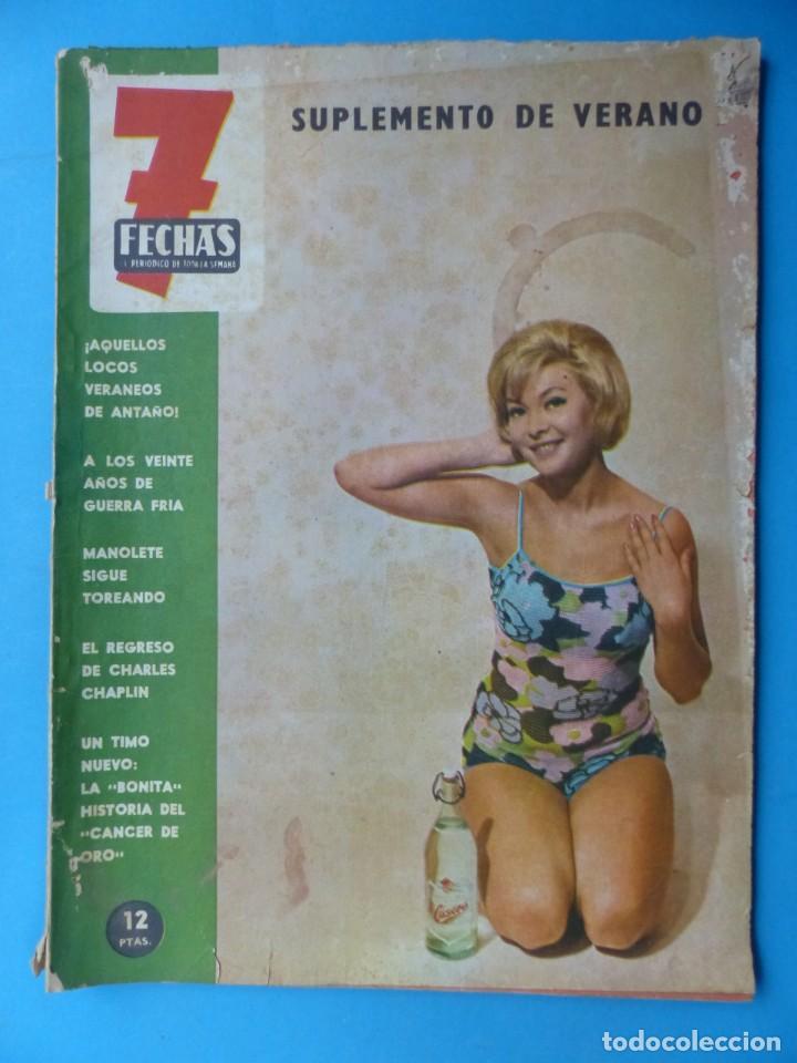 Cine: 7 FECHAS, 9 ANTIGUAS REVISTAS, AÑOS 1960-1970 - VER FOTOS ADICIONALES - Foto 7 - 187613318