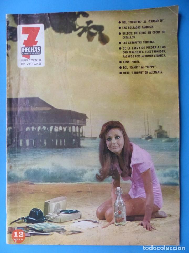 Cine: 7 FECHAS, 9 ANTIGUAS REVISTAS, AÑOS 1960-1970 - VER FOTOS ADICIONALES - Foto 10 - 187613318
