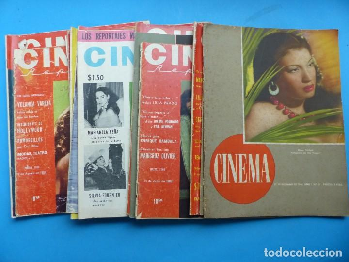 CINEMA, 16 ANTIGUAS REVISTAS, AÑOS 1940-1950-1960 - VER FOTOS ADICIONALES (Cine - Revistas - Cinema)