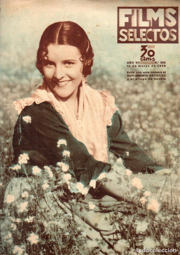 FILMS SELECTOS 14 MARZO 1936 - IMPERIO ARGENTINA (Cine - Revistas - Films selectos)