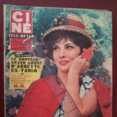 Cine: REVISTA CINE TELE REVUE EN FRANCES-GINA LOLLOBRIGIDA-DALIDA-WARREN BEATTY-BRIGITTE BARDOT. Lote 188501188