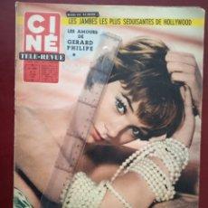 Cine: REVISTA CINE TELE REVUE EN FRANCES-SHIRLEY MAC LAINE-BRIGITTE BARDOT. Lote 188502038