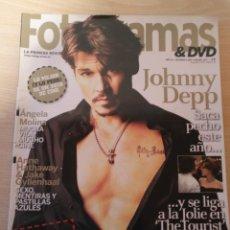 Cine: REVISTA FOTOGRAMAS AÑO 64 Nº 2007 ENERO 2011 - JOHNNY DEPP - ANGELA MOLINA . Lote 188596566