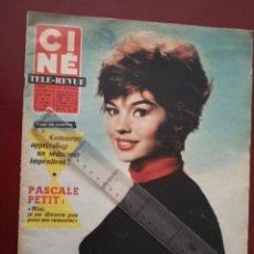 Cine: REVISTA CINE TELE REVUE EN FRANCES-PASCALE PETIT,CURD JURGENS,RICHARD WIDMARK,LINO VENTURA. Lote 188782455