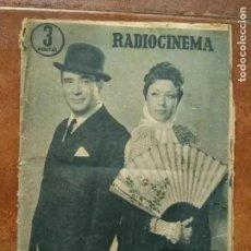 Cine: RADIOCINEMA. NUM 337. 1957 CARMEN MORELL PEPE BLANCO. Lote 189332858