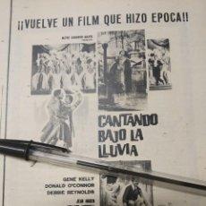 Cine: CANTANDO BAJO LA LLUVIA GENE KELLY METRO GOLDWIN MAYER.. Lote 189819672