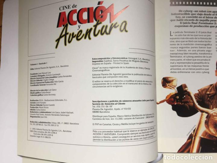 Cine: 2 fascículos CINE DE ACCIÓN Y AVENTURA (Planeta De Agostini, 1993) Nºs 1 y 2 ¡Coleccionista! - Foto 4 - 189893342